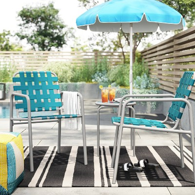 Acton 3pc Strapping Patio Chat Set - Project 62™