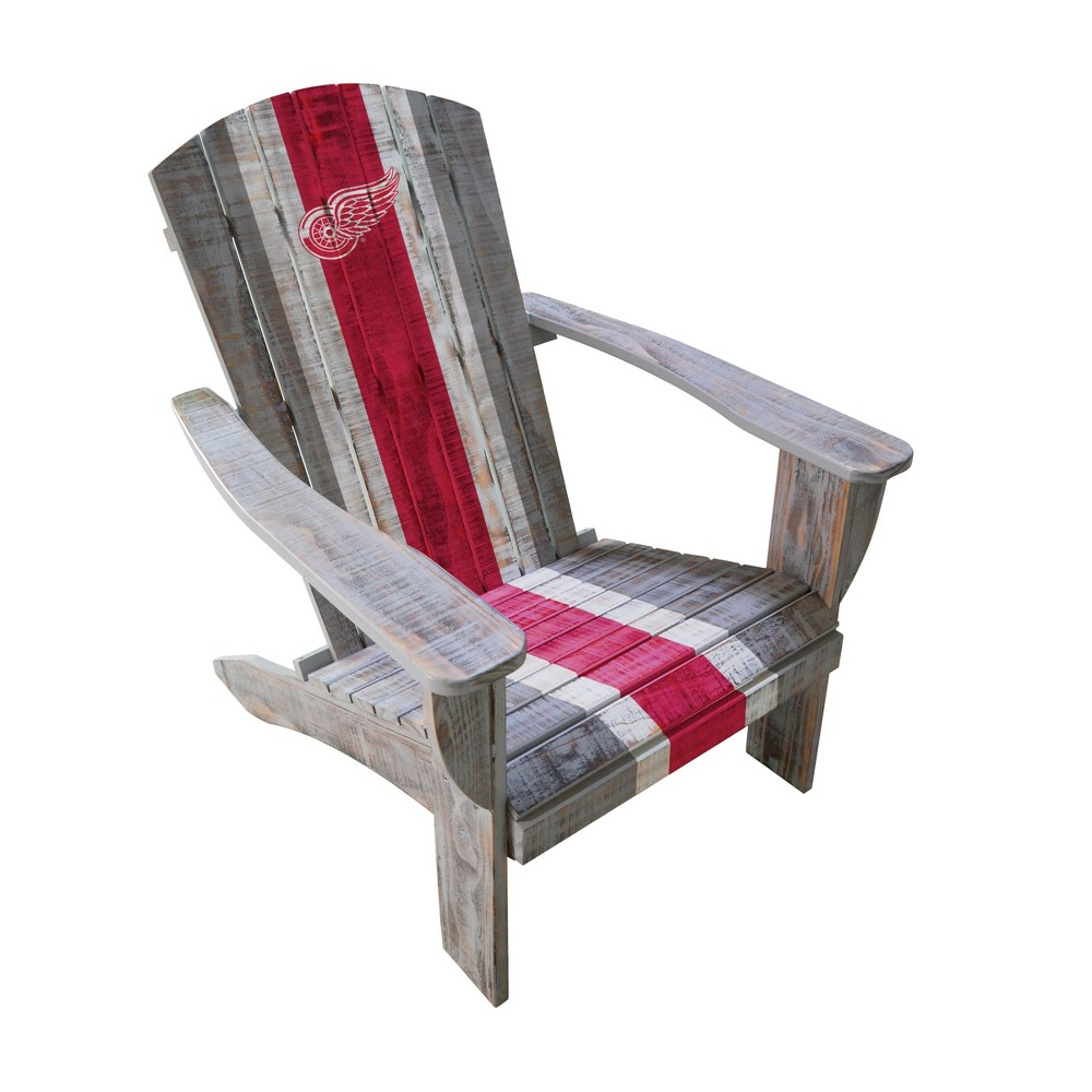 NHL Detroit Red Wings Wooden Adirondack Chair