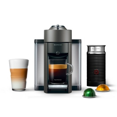 Nespresso Vertuo Coffee and Espresso Machine with Aeroccino Titan by De'Longhi