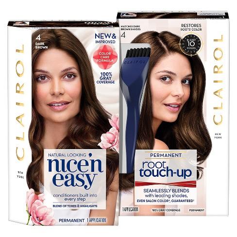 Clairol Nice  N Easy + Root Touch Up Duo Pack - 4 Dark Brown   Target 453beb337fbd