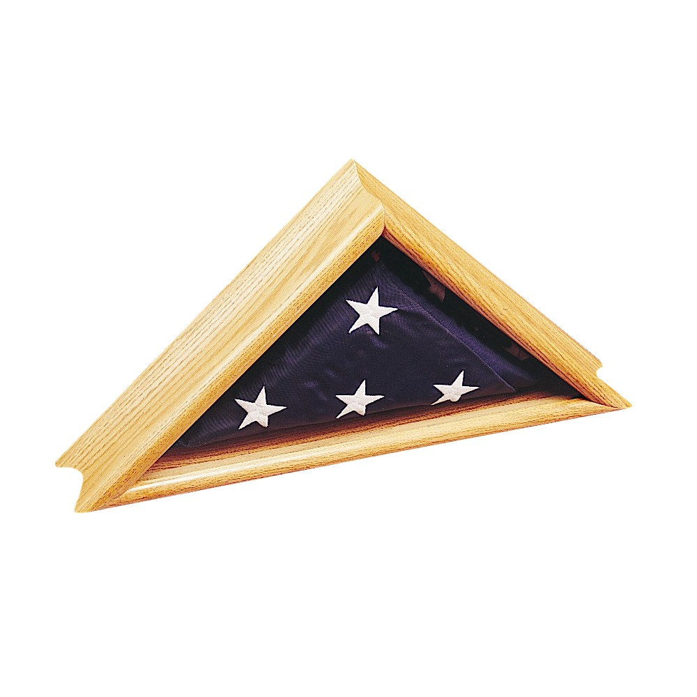 "Image of ""Halloween Deluxe Oak Case for Flags- 24"""" x 12.5"""""""