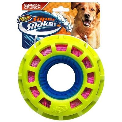 "NERF Exo Crunch Squeak Ring Dog Toy - 6"""
