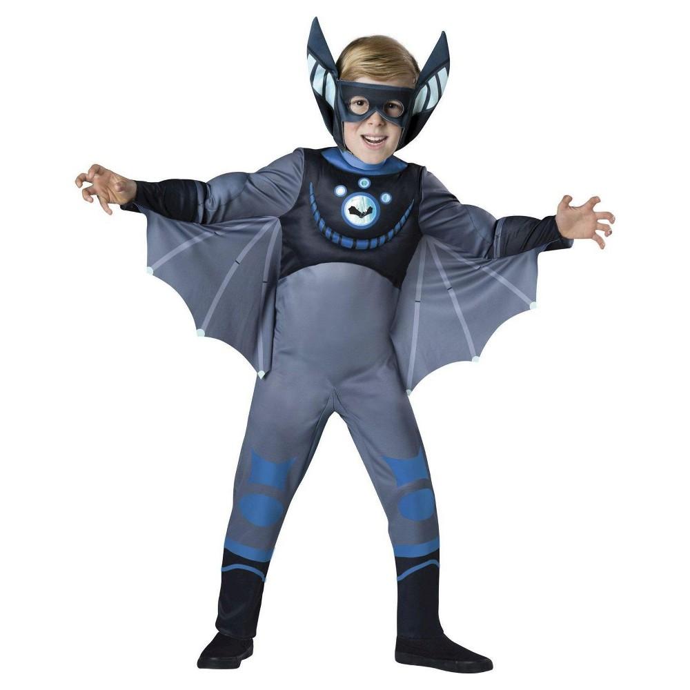 Wild Kratts Kids' Bat Costume - Small, Boy's, Size: S(4-6), Blue