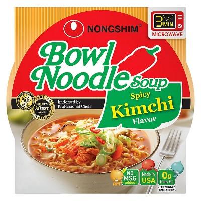 Nong Shim Noodle Bowl Soup Spicy Kimchi Flavor 3.03oz