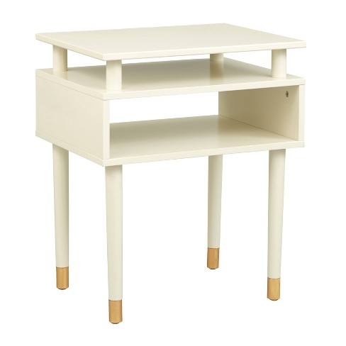 Margo Antique End Table White - Buylateral - image 1 of 4