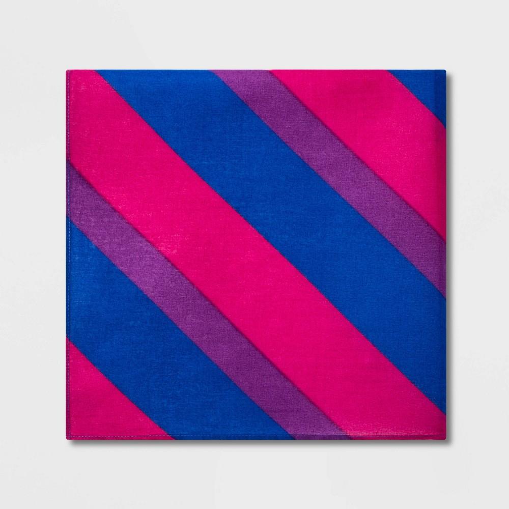 Pride Striped Bisexual Flag Bandana - One Size, Multi-Colored