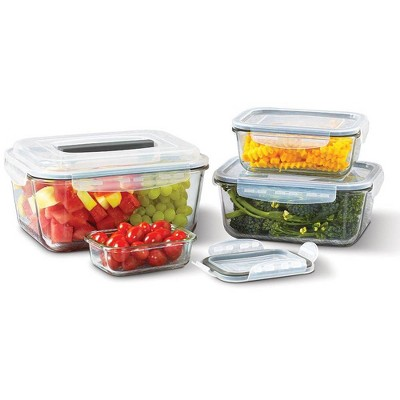 Mason Craft & More Set of 4 Food Storage Containers with Lids