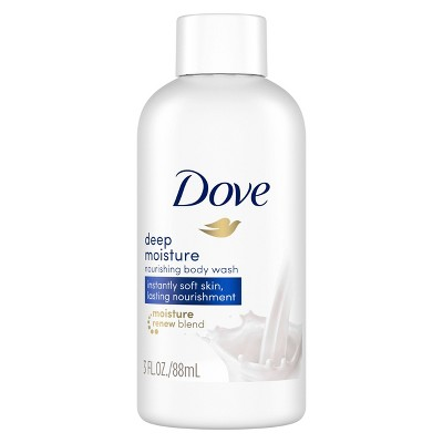 Dove Deep Moisture Nourishing Body Wash Soap for Dry Skin - Trial Size - 3 fl oz