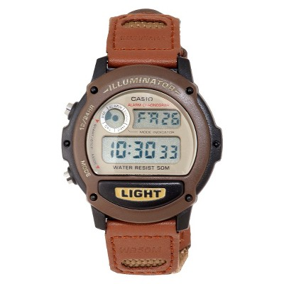 Casio Men's Nylon Strap Watch - Brown (W89HB-5AV)