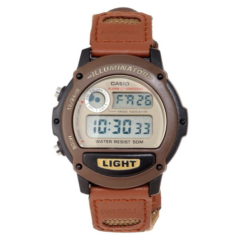 Casio Men's Nylon Strap Watch - Brown (W89HB-5AV) - image 1 of 1