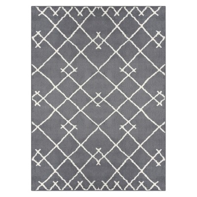 5'X7' Kenya Fleece Geometric Tufted Area Rug Gray - Project 62™