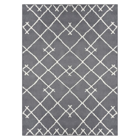 Tribal Tufted Area Rug Gray
