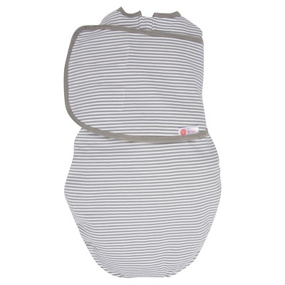 embe® 2-Way Swaddle™ Classic Gray Stripe - OS