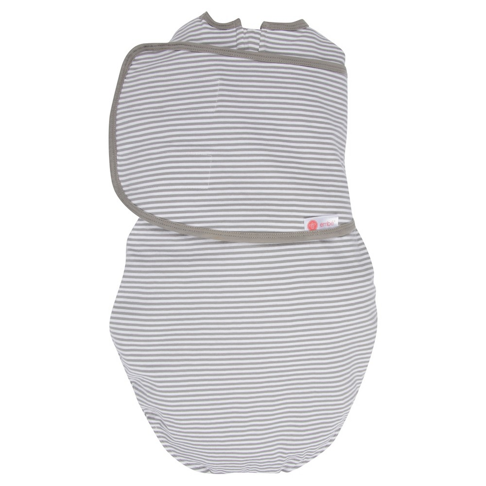embe 2-Way Swaddle Classic Gray Stripe - OS