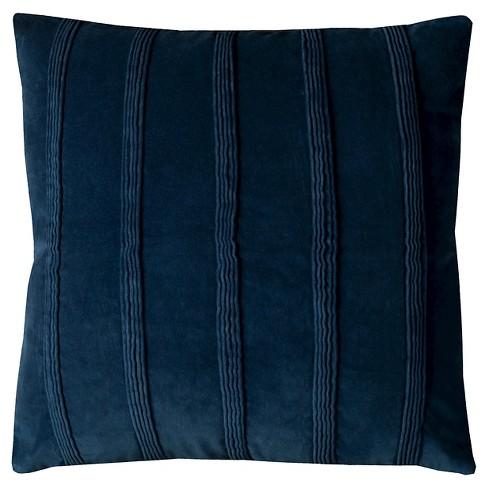 Navy Pintuck Stripes Throw Pillow 22 X22 Rizzy Home
