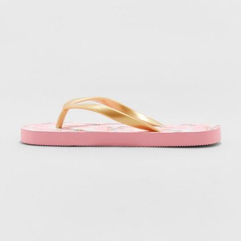 ac403ed89 Girls  Mari Unicorn Flip Flop Sandals - Cat   Jack™ Pink   Target
