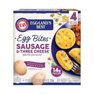 Eggland's Best Cage Free Sausage & Three Cheese Frozen Egg Bites - 4ct/8.4oz
