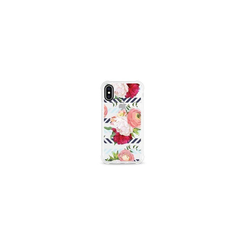 Otm Essentials Apple iPhone X/XS Rugged Edge Clear Case - Red Peonies & Ranunculus
