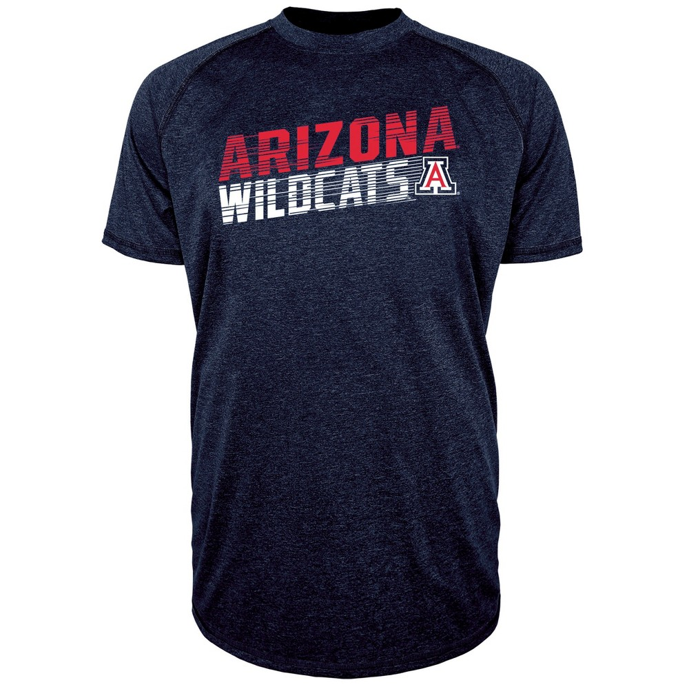 Arizona Wildcats Men's Short Sleeve Raglan Performance T-Shirt - M, Multicolored