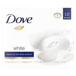 Dove White Moisturizing Beauty Bar - 3.75oz/12ct