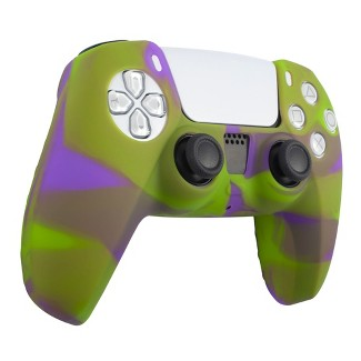 Insten Silicone Skin Cover Case Compatible With Sony PlayStation PS5 Controller, Camouflage Green Purple : Target