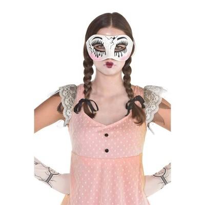 Adult Creepy Doll Mask Accessory Halloween Costume