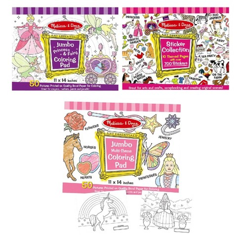 Melissa & Doug® Sticker Collection and Coloring Pads Set: Princesses, Fairies, Animals, and More - image 1 of 1