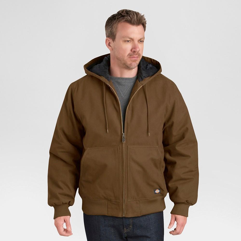 Dickies Men's Tall Sanded Duck Hooded Jacket - Timber LT, Brown