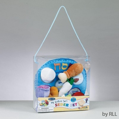 """Rite Lite 8.25"""" Blue and White My Deluxe Soft Seder Play Set"""