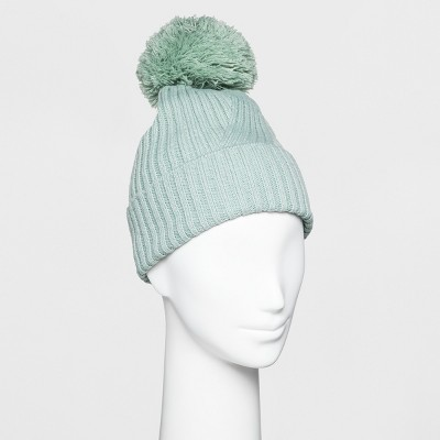 d465d9fe002 Women s Ribbed Cuff Pom Beanie - A New Day™   Target