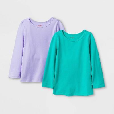 Toddler Girls' 2pk Adaptive Long Sleeve T-Shirt - Cat & Jack™ Purple/Green