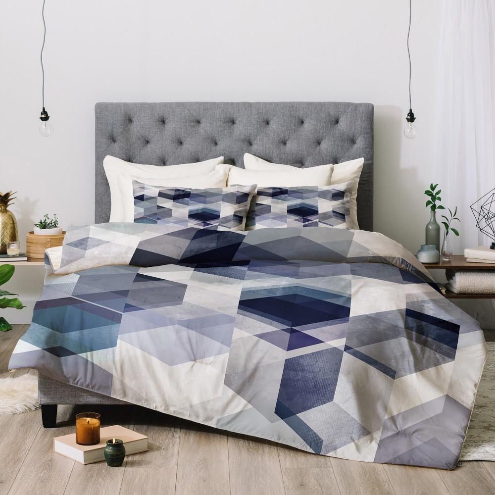 Black Mareike Boehmer Graphic 175 Comforter Set (Twin) - Deny Designs