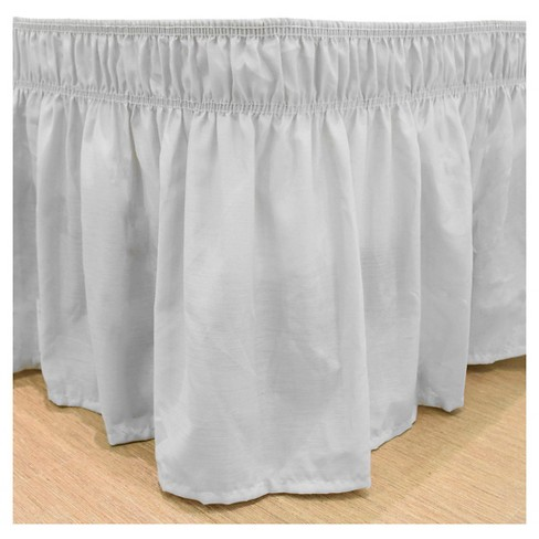 Easy Fit Ruffled Bed Skirt Queen King Size Polyester 65/% Cotton 35/% Ivory Solid