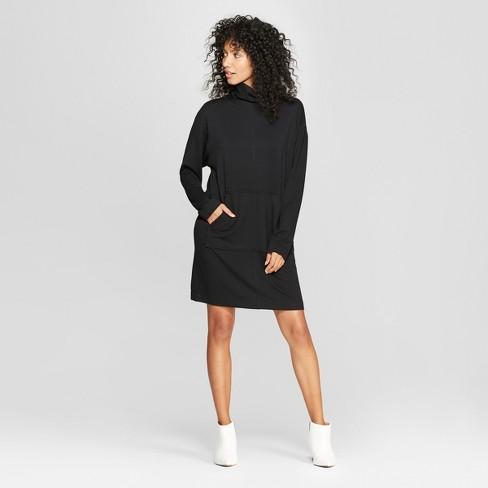 bb2cdb55780c6 Women s Long Sleeve Mock Neck Sweatshirt Dress - Prologue™ Black XS ...