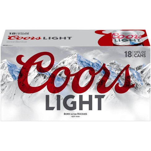 Coors Light Beer - 18pk/12 fl oz Cans - image 1 of 4