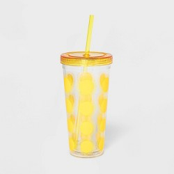 24oz Plastic Tumbler with Straw - Sun Squad™