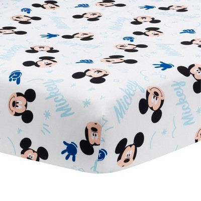 Lambs & Ivy Forever Mickey Mouse Fitted Crib Sheet