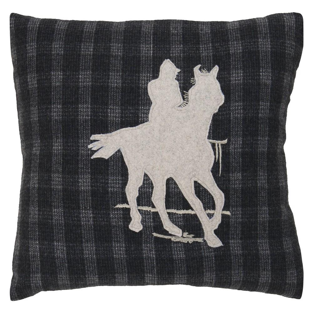 Black Polo Club Throw Pillow 18