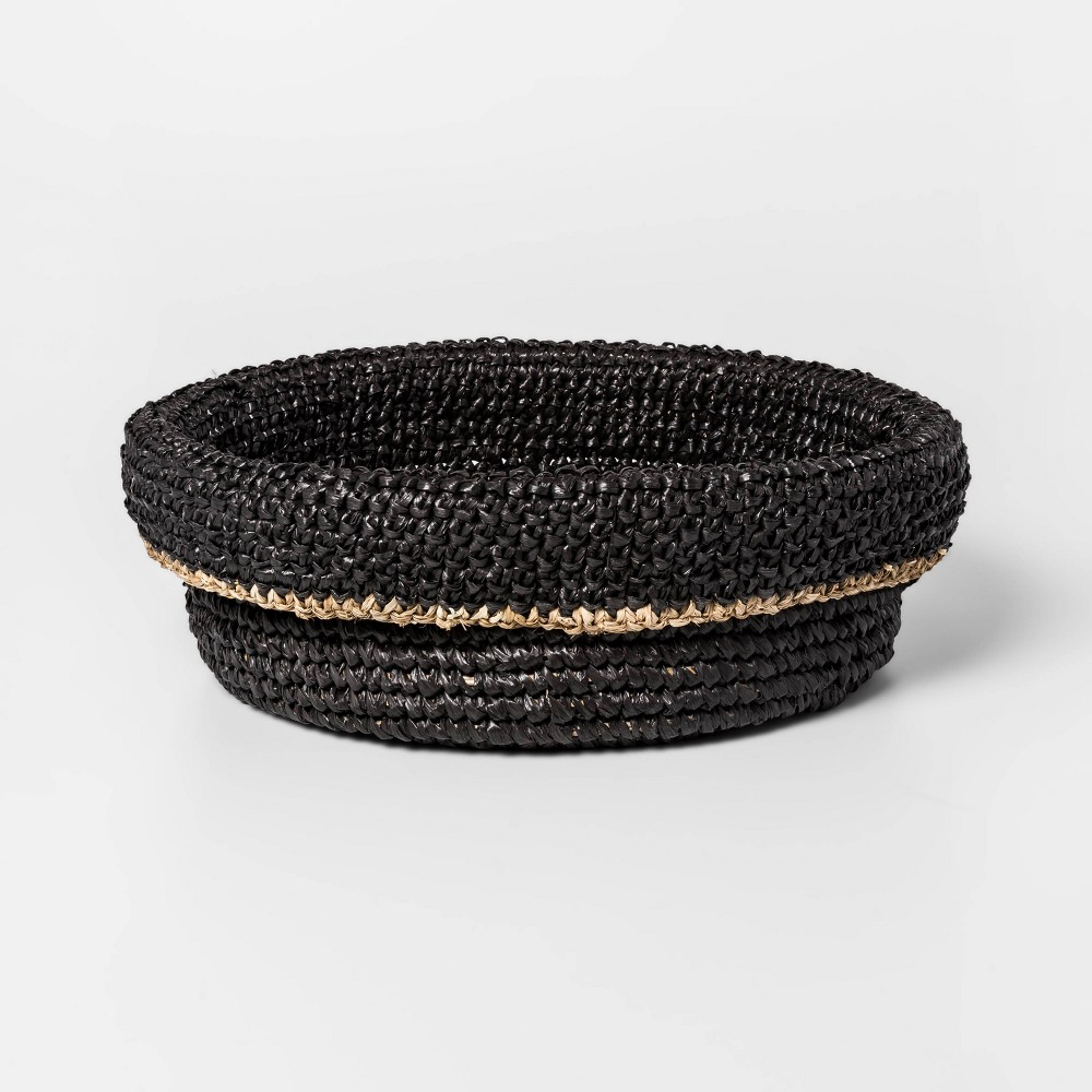 """Image of """"15"""""""" x 5.5"""""""" Lipped Woven Tray Black - Project 62"""""""