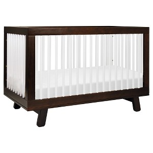 Babyletto Hudson 3-in-1 Convertible Crib with Toddler Rail, Brown/White