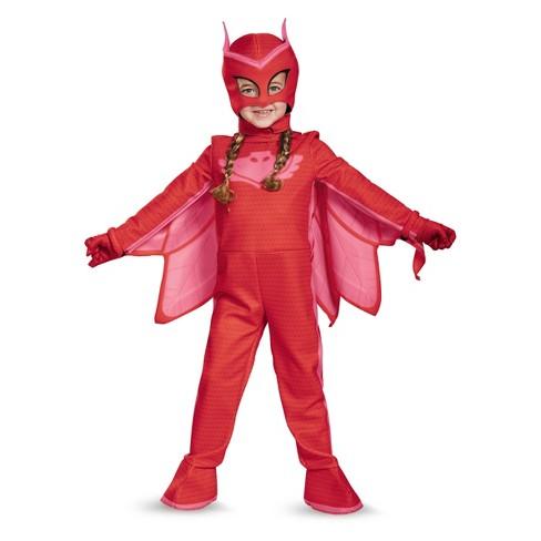 Pj Masks Halloween Costume.Toddler Girls Pj Masks Owlette Deluxe Halloween Costume 3t 4t