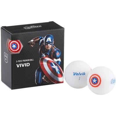 Volvik Marvel Golf Balls 4pk-Captain America