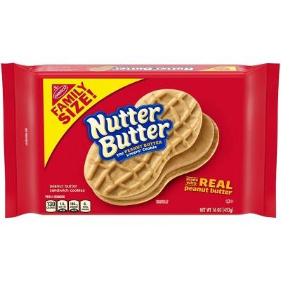 Nutter Butter Peanut Butter Sandwich Cookies - Family Size - 16oz