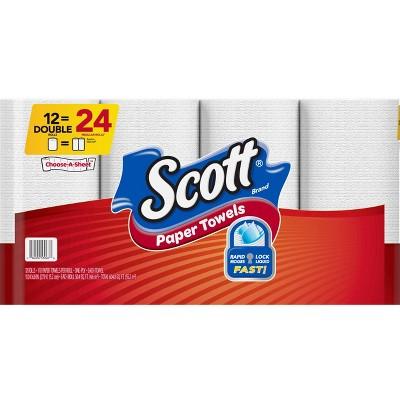 Scott Double Roll Choose-A-Sheet Paper Towels - 12pk
