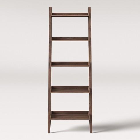 71 Millbury Rustic Wood Ladder Bookcase