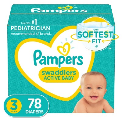 Pampers Swaddlers Disposable Diapers Super Pack - Size 3 (78ct)
