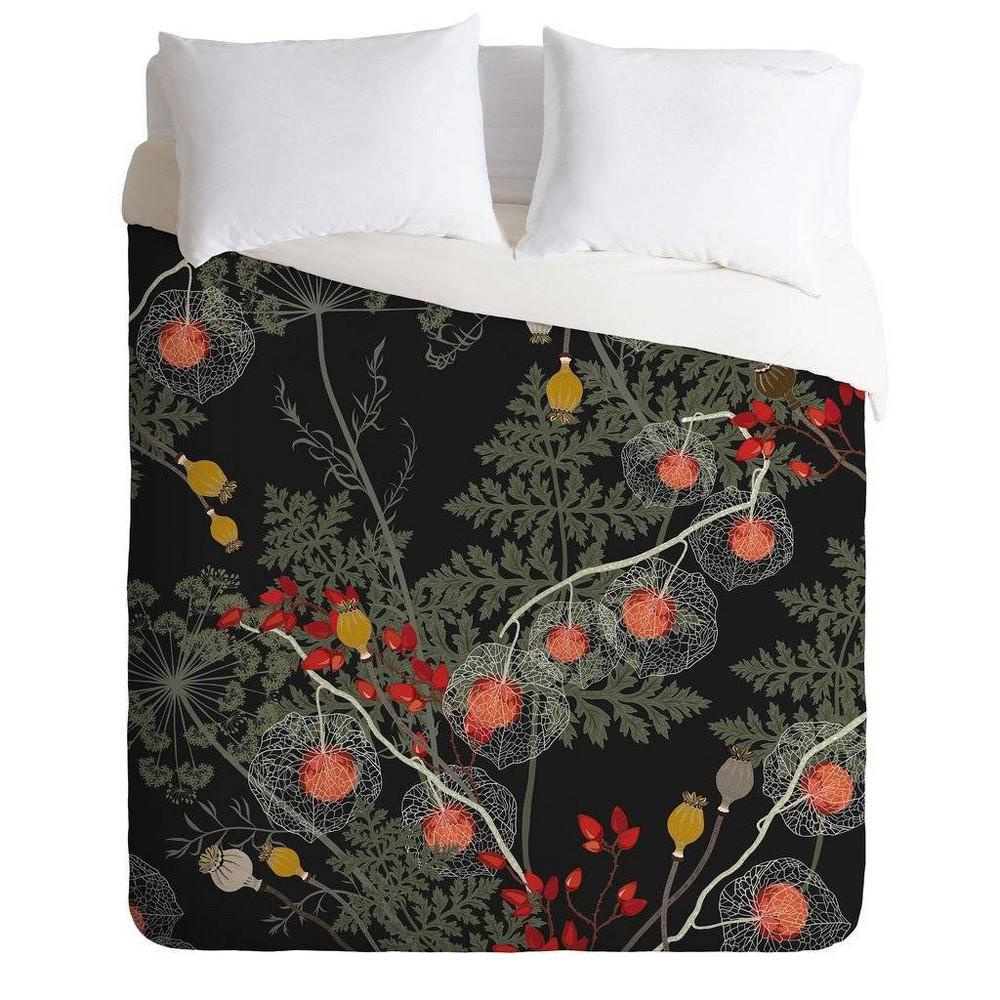 Full/Queen Iveta Abolina Duvet Cover & Sham Set Orange - Deny Designs