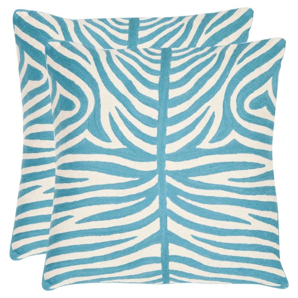 Blue Throw Pillow (22