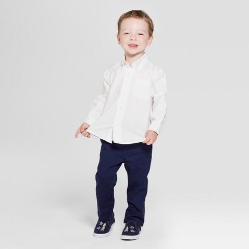 7baa741268c ... Long Sleeve Uniform Oxford Button-Down Shirt - Cat & Jack™ White. Shop  all Cat & Jack