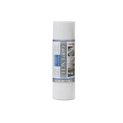 Con-Tact Brand Grip Premium Non-Adhesive Shelf Liner- Excel Grip White (12''x 10')